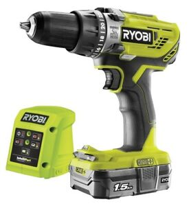 Ryobi  R18PD3-0 18V Cordless Percussion Drill with 1 x 1.5Ah Battery and Charger
