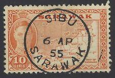 Sarawak 1950 10c Scaly Ant Eater used Xf Son Kuching