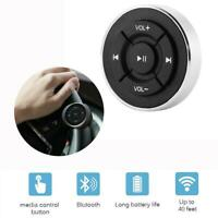 Car Bluetooth Media Remote Control Button Steering Wheel Mount New