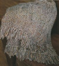 Knitting Pattern ~ Pretty Cable Afghan ~ Instructions