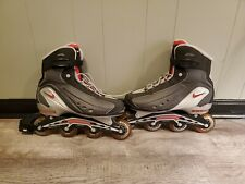 Nike N Dorfin 4 Air Max Inline Roller Skates Red Black Silver Men's Size 12