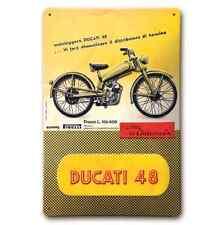 Ducati Metallschild 48 gelb Blechschild Retro Vintage NEU!