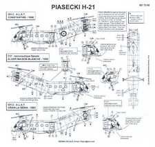 Berna Decals 1/72 PIASECKI H-21 Helicopter in French Service