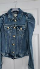 River Island Women Puff  shoulder Denim  Jacket Size L/12. New With Tag