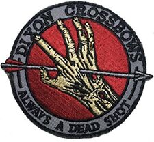 The Walking Dead Daryl Dixon Crossbows Iron On Patch/Badge/Applique/Transfer Sew