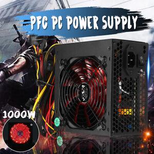 1000W Active ATX 12V 2.3 PFC Desktop Gaming PC Netzteil 8PIN+2x6PIN Silent Fan