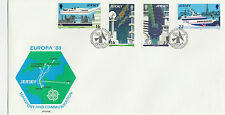 OFFICIAL JERSEY  FDC x 2 - EUROPA 1988 - TRANSPORT & 1989-CHILDRENS GAMES & TOYS