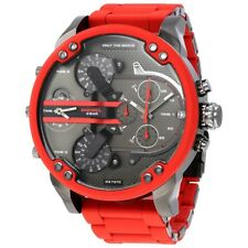 Diesel DZ7370 Mr Daddy 2.0 Red Silicone Strap Chronograph Watch 57mm