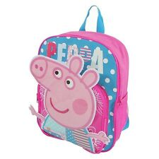 Kids Girls Backpack Large Medium School Bag Rucksack Peppa Little Pig Xmas Gift