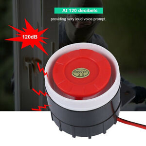 Mini Wired Cars Horn Speaker Siren Home Security Sound Alarm System 110dB DC-xd