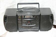 Vintage JVC PC-XC30 Boom Box AM/FM Radio, 6-CD Changer, Dual CASSETTE BOOMBOX