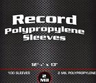300 New 33 RPM Record Outer Poly Sleeves 2 mil BCW Acid Free LP 12 Inch Album