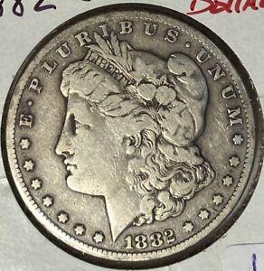 1882-CC MORGAN SILVER DOLLAR NICE VERY FINE VF — CARSON CITY — NO RESERVE!!