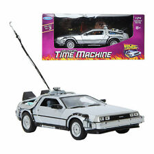 WELLY 1:24 Back To The Future Delorean Time Machine Die-cast Metla Toy Model Car