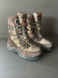 """LaCrosse 8"""" Silencer Scent HD 800g Youth Hunting Camo Boots Sz 4 Waterproof"""