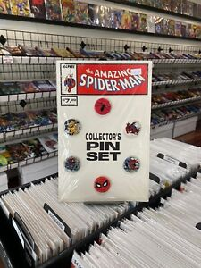 Amazing Spider-Man Collector's Pin Set SEALED - Marvel Comics 1989