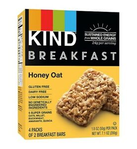 Kind Breakfast Bars Honey Oat