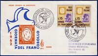 1962 - FDC Venetia - Giornata del Francobollo - Viaggiata - n.193It