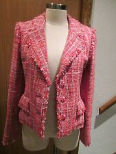CHANEL Red Fitted Jacket Size 38