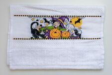 "CROSS STITCH FINGERTIP TOWEL ""HALLOWEEN"""