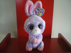 Ty Beanie Boos PETUNIA  rabbit 6 inch NWMT. RETIRED AND HARD TO FIND.