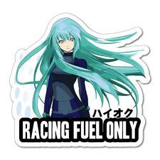 Anime Girl Racing Fuel Only Fuel Cap JDM Sticker Decal Drift Jap Car  #0764EN