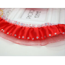 5 yards 2-Layer Sequin Chiffon Gathered Pleated Sequined Trim DIY