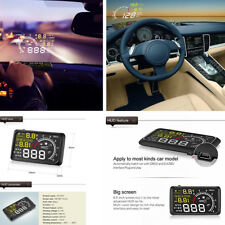 "5.5"" OBD2 HUD Head Up Display Engine Speed Alarm Speedometer Water Temperature"