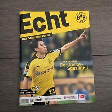 BVB*BORUSSIA DORTMUND*Stadionmagazin ECHT*Heft Nr. 133*BVB-Schalke*Kagawa