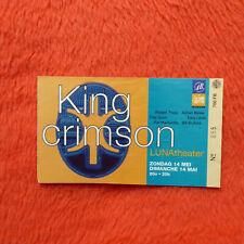 King Crimson Used Concert Ticket Thrak Tour Luna Theater Brussels 1995