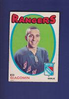 Ed Giacomin HOF 1971-72 O-PEE-CHEE OPC Hockey #220 (EX) New York Rangers