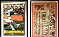 Uwe Von Schamann Signed 1983 Topps #322 Card Miami Dolphins Auto Autograph