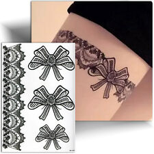 ►TATOUAGE TEMPORAIRE NOIR / jarretière / tattoo femme éphémère / autocollant◄