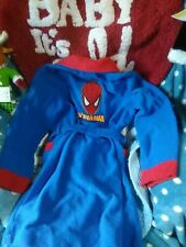 Marvel Ultimate Spider-Man - Bath robe - Boys Size 8 Nwt !