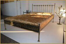 Antik doppel Metallbett Ludwig 140x200 mit gehämmertem Blech + Rollrost!