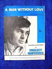 Sheet Music - 'A man without love' featured by Engelbert Humperdinck...