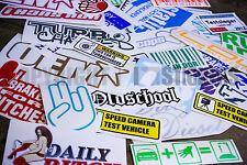 10x Shocker Aufkleber Set Auto Sticker Motorrad Decals Folie Überproduktion