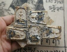 Rare Old Antique 9 Phra Somdej Lp Toh,Wat Rakang Antique Buddha Thai Amulet #P65