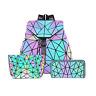 Luminous Geometric Purse and Handbag Holographic Purse Reflective Purse Fashion