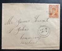 1901  Newfoundland Cover To St Johns