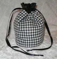 Black & White Dogstooth Check Pattern Glittery Effect Bag Dolly Evening Handbag