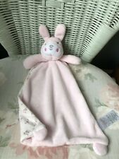 MATALAN PINK CREAM FLORAL BUNNY RABBIT COMFORTER BLANKIE SOFT TOY SOOTHER DOUDOU