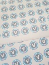 30 V bucks style stickers for chocolate coins Stocking filler party bag