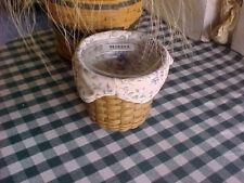 Longaberger Bouquet Basket w Prot Cust liner