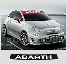 adesivi FIAT 500 FASCIA PARASOLE ABARTH stickers 500 adesivo parabrezza abarth