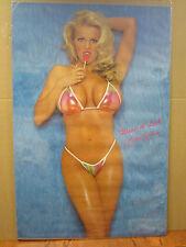 Want a lick Brooke Richards Hot girl man cave car garage Vint Poster 1991 2667