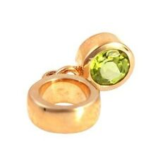 Dangle Peridot 9ct 9K Solid Gold Bead Charm FITS EURO BRACELETS 30 Day Returns