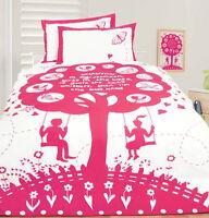 Bees Knees Pink Butterflies & Love Hearts DOUBLE Size Quilt Doona Cover Set