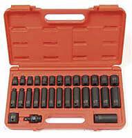 "Sunex 29 Pc 3/8"" Drive Metric Impact Socket Set 8-22MM"