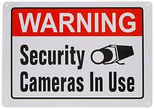 ALUMINUM METAL SECURITY CAMERA HOME ALARM SYSTEM IN USE WARNING FENCE YARD SIGN